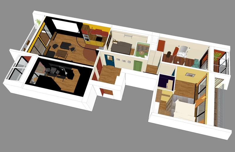 appartement 1 - espaces au singulier