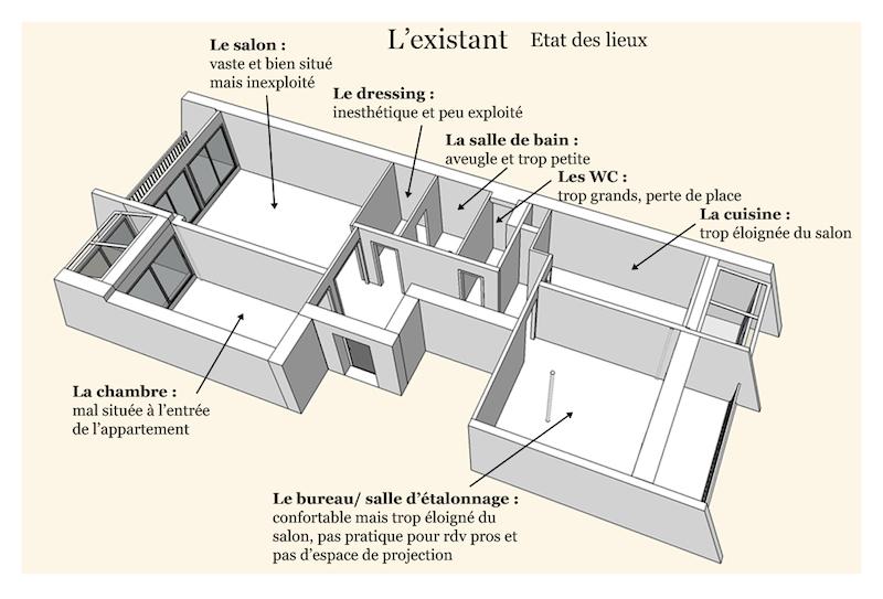 plan existant - Julie Deljehier - espaces au singulier